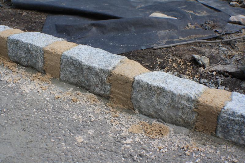Cobblestone Edging Stamped Concrete