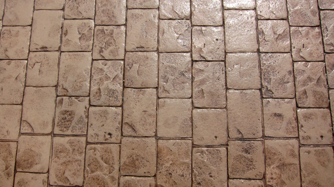 Stamped Concrete Close Up Picture