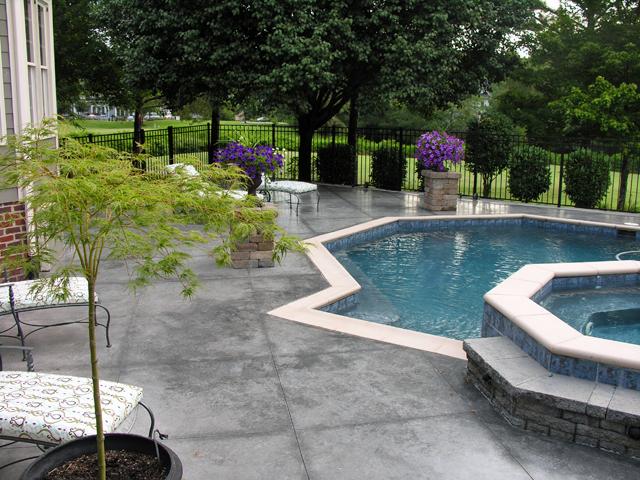 Concrete Pool Deck by ConcreteVA.com