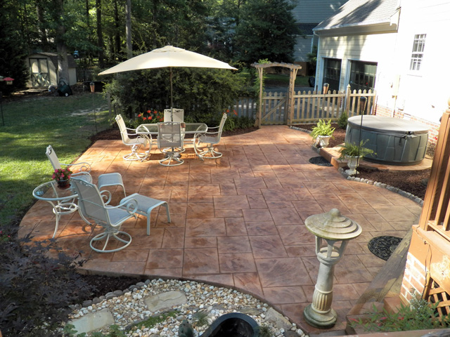 Stamped concrete richmond virginia for Pool design richmond va