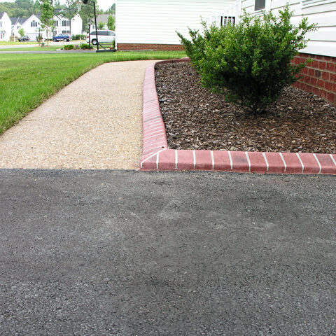 Brick Edging and Exposed Aggregate