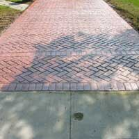 Harringbone Stamped Concrete Driveway by ConcreteVa.com