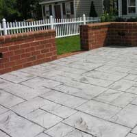 Stamped Concrete Patio by ConcreteVA.com