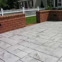 Stamped Concrete Patio by ConcreteVA.com